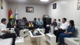 وفد من حزب الوحدة الديمقراطي الكردي في سوريا في زيارة لمقر ممثلية الإدارة الذاتية لشمال وشرق سوريا